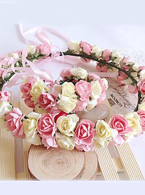 נערת פרחים נייר כיסוי ראש-חתונה / אירוע מיוחד פרחים חלק 1