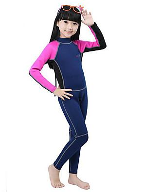 Sportovní Děti Potápěčské obleky Diving Suit Komprese Mokré obleky 2,5 až 2,9 mm Zelená / Růžová / Modrá XS / S / M / L / XL Potápění