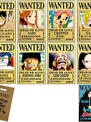 Více doplňků Inspirovaný One Piece Monkey D. Luffy Anime Cosplay Doplňky Karta Żółty Papír Pánský / Dámský