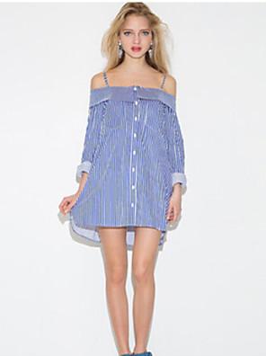 Women's Striped Multi-color Blouse , Strap Long Sleeve