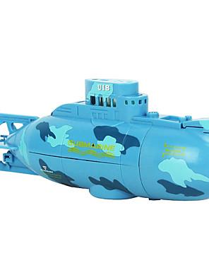 Submarine CREATE TOYS 3311 1:36 Battleship RC Boat Brush Electric 4 FM Indoor toys - slowly plastic Blue / Yellow