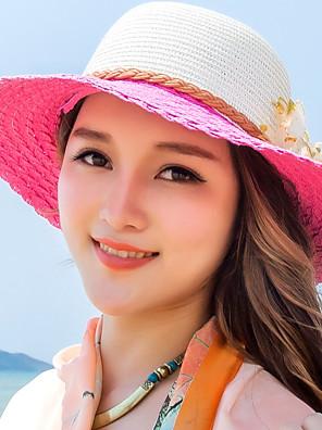 כובע קש נשים וינטאג' / יום יומי,קש חורף / קיץ