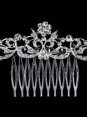 נשים פנינה / ריינסטון / קריסטל / סגסוגת כיסוי ראש-חתונה / אירוע מיוחד / קז'ואל מסרקי שיער חלק 1