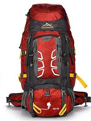 55 L mochila / Mochila para Excursão Acampar e Caminhar / Montanhismo / Viajar Ao ar Livre / Esportes de LazerÁ Prova-de-Água / Insulação