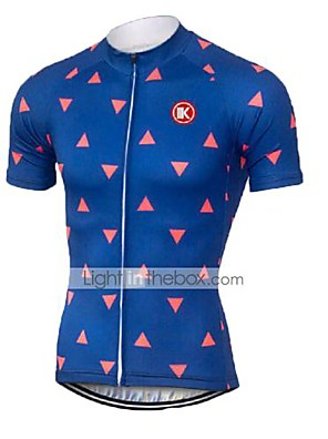 KEIYUEM® Camisa para Ciclismo Unissexo Manga Curta MotoRespirável / Secagem Rápida / Resistente Raios Ultravioleta / Zíper Frontal /