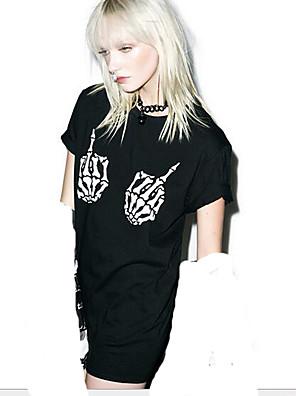 Punk Lolita Felszerelések Rövid ujjú N/A Fekete Lolita ruha Pamut