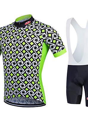 Fastcute® חולצת ג'רסי ומכנס קצר ביב לרכיבה לנשים / לגברים / לילדים / יוניסקס שרוול קצר אופנייםנושם / ייבוש מהיר / חדירות ללחות / רוכסן