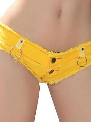 Sexy-Polyester-Micro-elastisch-Kort-Broek-Vrouwen