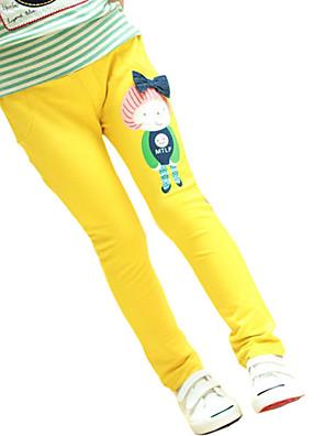 Girl's Cotton Spring/Autumn Fashion Pants Cartoon Pattern Print Casual Trousers