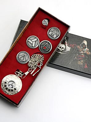 תכשיטים קיבל השראה מ Assassin's Creed Conner אנימה / משחקי וידאו אביזרי קוספליי סיכה / שעון כסף סגסוגת זכר / נקבה