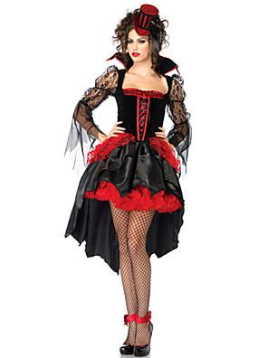 Cosplay Kostýmy / Kostým na Večírek Angel & Devil / Duch / Zombie / Upír Festival/Svátek Halloweenské kostýmy Červená / Černá Retro Šaty