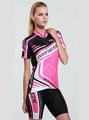 MYSENLAN® חולצת ג'רסי ומכנס קצר לרכיבה לנשים שרוול קצר אופנייםנושם / ייבוש מהיר / עמיד אולטרה סגול / חדירות ללחות / חדירות גבוהה לאוויר