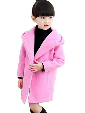 חליפה ובלייזר / ז'קט ומעיל יום יומי\קז'ואל אחיד ריון חורף / סתיו / אביב ורוד / אדום / אפור הילדה של