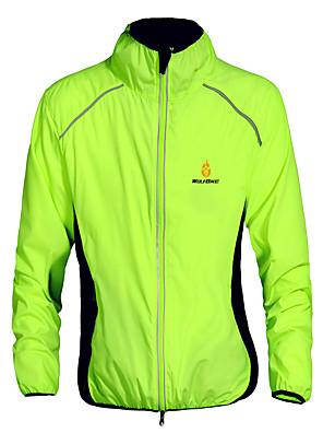WOLFBIKE® Cyklo bunda Unisex Dlouhé rukávy Jezdit na koleRychleschnoucí / Větruvzdorné / Odolný vůči UV záření / Přední zip / Lehké