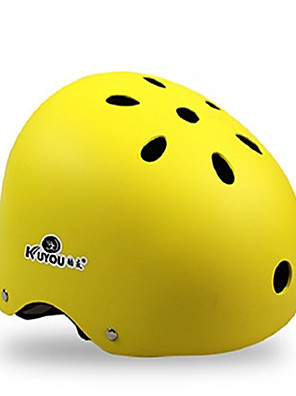 Capacete(Amarelo / Branco / Rosa / Preto / Laranja,EPS / ABS) -Esportes-Unisexo 11 Aberturas Ciclismo / Skate