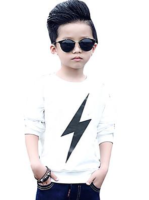 Boy's Casual/Daily Print Hoodie & Sweatshirt,Cotton Winter / Fall Black / White