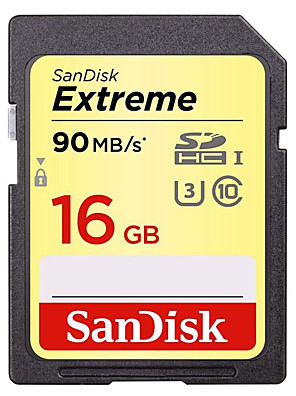 Sandisk Extreme SDXC UHS-I SD Memory Card 16GB 32GB 64GB Camera Class10 90MB/s 600X High Speed