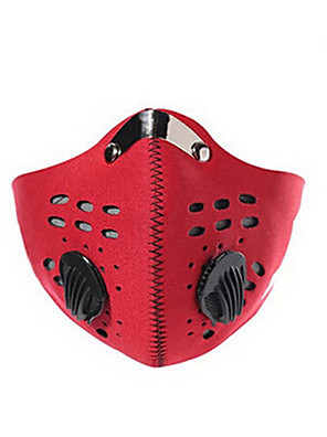 Máscara Facial Moto A Prova de Vento / Á Prova-de-Pó / Antibacteriano Homens Vermelho / Preto / Azul borracha / Grade