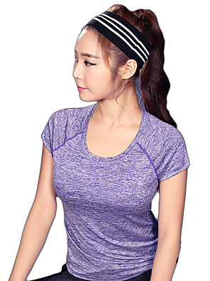 Running T-shirt / Sweatshirt Women's Short Sleeve Breathable / Quick Dry / Reflective Strips / Sweat-wicking