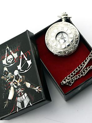 תכשיטים קיבל השראה מ Assassin's Creed Conner אנימה / משחקי וידאו אביזרי קוספליי שרשרת כסף סגסוגת זכר / נקבה