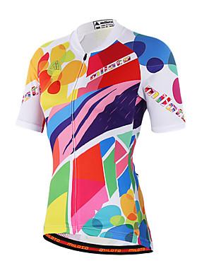 Miloto® Camisa para Ciclismo Mulheres Manga Curta MotoRespirável / Secagem Rápida / Permeável á Humidade / Zíper Frontal / Fecho YKK /