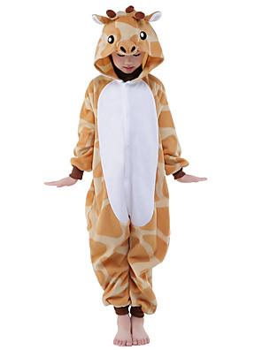 Kigurumi Pyjama  nieuwe Cosplay® / Giraffe Gympak/Onesie Festival/Feestdagen Animal Nachtkleding Halloween Geel Patchwork Flanel Kigurumi