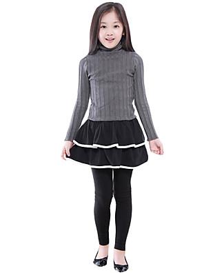 Dívka je Běžné/Denní Jednobarevné Jaro / Podzim Šaty / Sukýnky / Legíny Další Černá