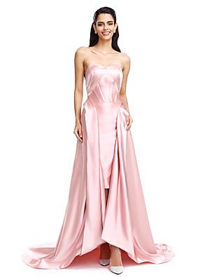 2017 TS couture® הערב רשמית להלביש אונליין סאטן מתיחה סימטרית מתוקה עם