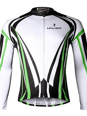 PALADIN® חולצת ג'רסי לרכיבה לגברים שרוול ארוך אופנייםנושם / ייבוש מהיר / עמיד אולטרה סגול / דחיסה / חומרים קלים / רצועות מחזירי אור / כיס
