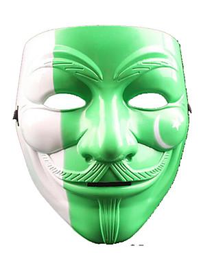 Artigos de Halloween / Baile de Máscara Anjo e Diabo Festival/Celebração Trajes da Noite das Bruxas Branco / Preto / Verde / Amarelo