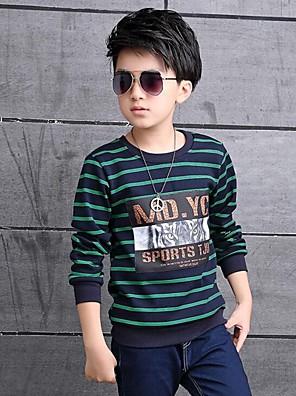 Boy's Casual/Daily Print TeeCotton Winter Green / Orange / White