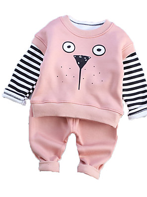 Boy's Casual/Daily Print Clothing SetCotton Winter Brown / Green / Pink / Purple