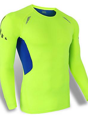 Esportivo Camisa para Ciclismo Homens Manga Comprida Moto Respirável / Secagem Rápida / A Prova de Vento / Á Prova-de-Pó / Confortável
