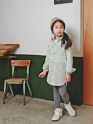 Girl's Going out Solid Jeans / Overall & JumpsuitCotton Summer / Spring Green