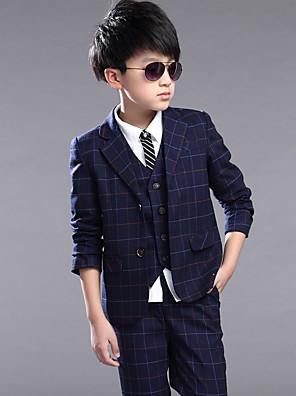 Bavlna Oblek pro mládence - 4 Pieces Obsahuje sako / Vesta / Kalhoty
