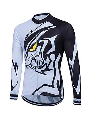 ספורטיבי חולצת ג'רסי לרכיבה לנשים / לגברים / לילדים / יוניסקס שרוול ארוך אופנייםנושם / שמור על חום הגוף / ייבוש מהיר / רוכסן קדמי / רוכסן