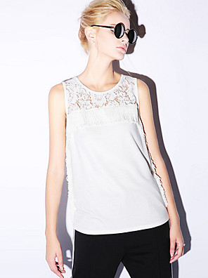 NEW BEFORE  Women's Casual/Daily Simple Summer Tank TopSolid Round Neck Sleeveless
