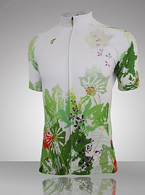 Getmoving® Camisa para Ciclismo Mulheres Manga Curta Moto Respirável / Permeável á Humidade / Bolso Traseiro / Redutor de SuorCamiseta