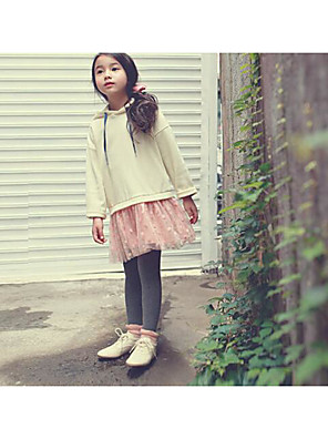 Girl's Going out Solid Skirt / Overall & JumpsuitCotton Winter / Fall Beige