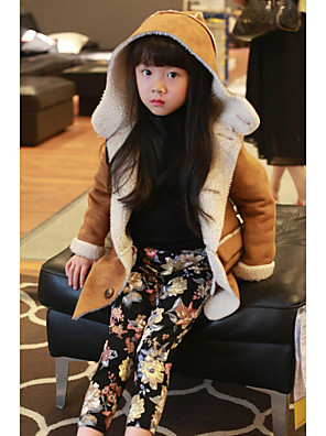 Girl's Casual/Daily Solid BlousePolyester Fall Brown