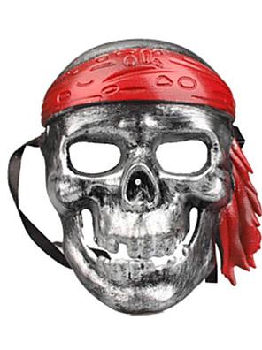Máscara Esqueleto/Caveira Festival/Celebração Trajes da Noite das BruxasVermelho / Roxo / Dourado / Prateado / Branco / Preto / Verde /