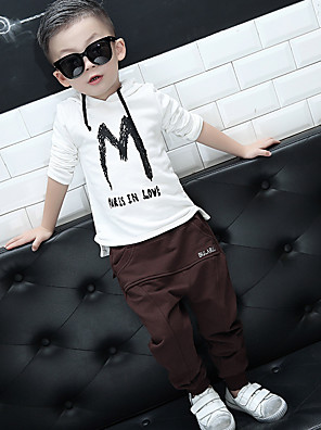 Boy's Casual/Daily Solid PantsCotton Spring / Fall Black / Brown