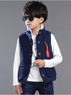 Boy's Casual/Daily Solid VestCotton / Rayon Winter / Spring / Fall Blue / Gray