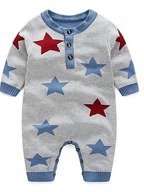 Baby Tøjsæt Bomuld Galakse Casual/hverdag-Efterår-Grå