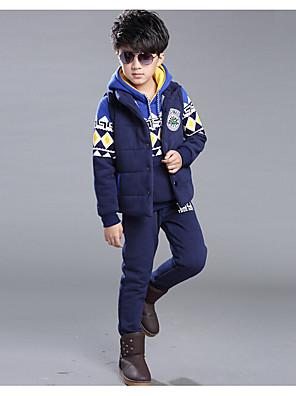 סט של בגדים יום יומי\קז'ואל דפוס כותנה / ריון חורף / סתיו / אביב כחול / אדום הילד של
