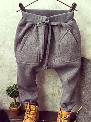 Boy's Casual/Daily Solid PantsCotton Winter / Spring / Fall Black / Gray