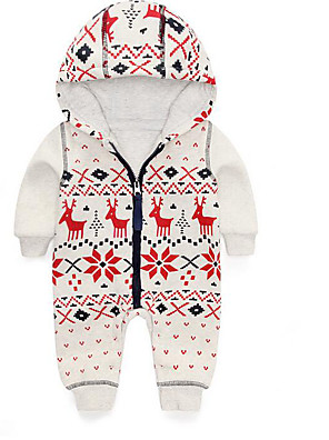 Baby Casual/Daily Floral Clothing Set-Cotton-Winter / Spring / Fall-White
