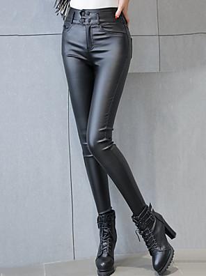 Sexy / Street chic-PU-Rekbaar-Skinny-Broek-Vrouwen