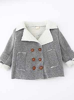 Boy's Casual/Daily Solid Jacket & CoatCotton Winter Gray
