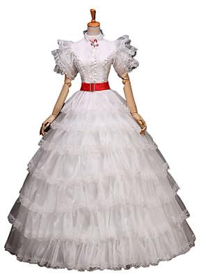 Jednodílné/Šaty Gothic Lolita / Sweet Lolita / Klasická a tradiční lolita / Punk Lolita Lolita Cosplay Lolita šaty Stříbrná Květinový3 /